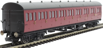 R4879 Collett 57' 'Bow ended' non-corridor composite (Right-hand) W6631W in BR crimson