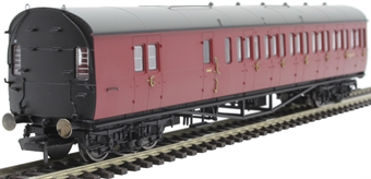 R4880 Collett 57' 'Bow ended' non-corridor brake third (Left-hand) W5507W in BR crimson