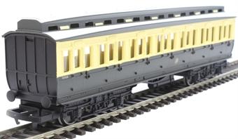 R4913 GWR clerestory third corridor coach in GWR chocolate and cream - Railroad range