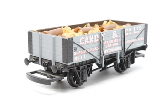R6073-PO03 Candy & Co Ltd 5 Plank Wagon No.111 - Pre-owned - detailed with added load- missing coupling hook