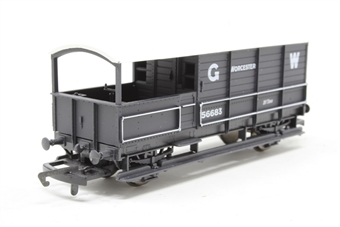 R6077A-PO01 G.W.R 20 Ton Brake Van - Worcester 56683 - Pre-owned - missing one coupling hook
