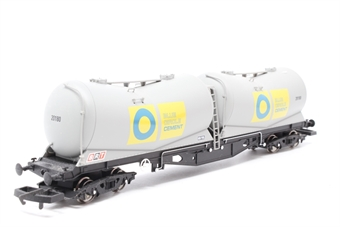 R6311A-PO02 Blue Circle PDA bogie depressed centre wagon - Pre-owned - Like new