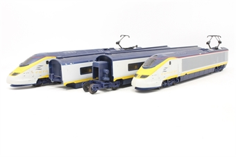 R665A-PO Class 373 Eurostar Train 3219 3220 - Pre-owned - broken pantograph and marks on roof - replacement box