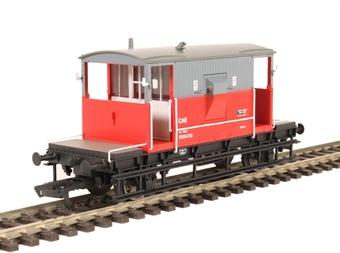 R6765 20 Ton Brake Van B954735 in Rail Express systems livery