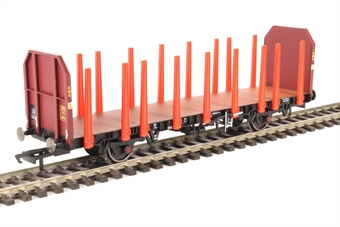 R6792 OTA timber wagon in EWS maroon with tapered stanchions
