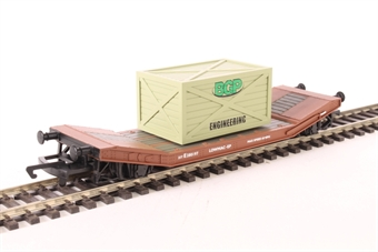 R6795 Lowmac well wagon B904567 in BR bauxite with removable load - Railroad Range £8