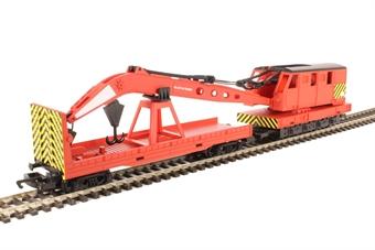 R6797 Breakdown Crane and match wagon in BR red - Railroad Range