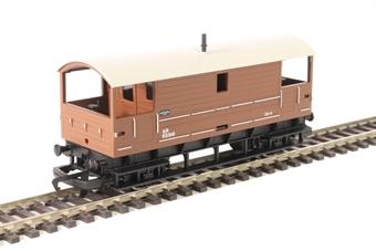 R6802 10 ton brake van 55891 in Southern Railway brown