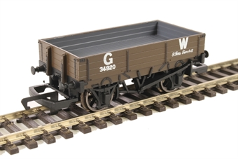R6806 Three plank open wagon in GWR bauxite