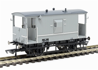 R6834 LNER 20 ton 'Toad E' brake van E175712 in BR grey
