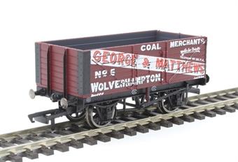 "R6876 7-plank open wagon ""George & Matthews, Wolverhampton"""