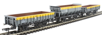 R6893 Pack of three engineers wagons - 'Rudd', 'Clam' and 'Tope' in departmental grey and yellow
