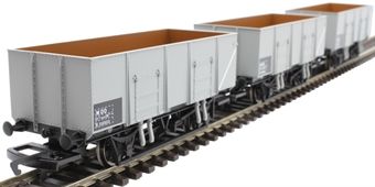 R6906 21 ton steel mineral wagons in BR grey - pack of three