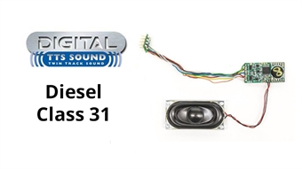 R8101 TTS DCC Sound Decoder with 8 pin plug - Class 31 diesel