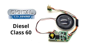R8104 TTS DCC Sound Decoder with 8 pin plug - Class 60 diesel