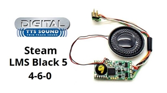 R8114 TTS DCC Sound Decoder with 8 pin plug - LMS 5MT 'Black Five' steam locomotive