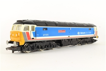 R876 Class 47 47573 'The London Standard' in NSE Blue