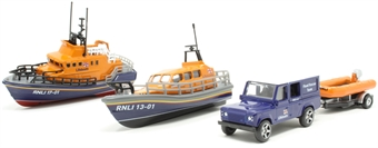 RNLI0001 RNLI Gift Set - Shannon Lifeboat, Severn Lifeboat and Flood Rescue Team