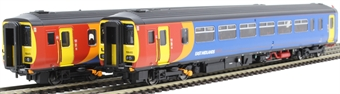 "RT156-118 Class 156 'Super Sprinter' 2-car DMU 156410 in East Midlands Trains livery - ""Nottingham / Skegness"""