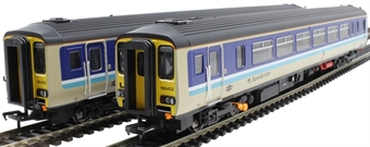 "RT156-315 Class 156 'Super Sprinter' 2-car DMU 156452 in BR Provincial 'Super Sprinter' livery - ""Cambridge / Birmingham"""