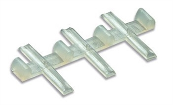 SL-11 Insulated rail joiners/fishplates (for OO, HO & O gauge code 100 rails incl. Hornby, Peco & Peco Streamline) - Pack of 12