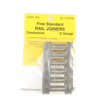 SL-710FB Finescale Metal Rail Joiners Code 143 Nickel Silver