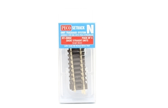 ST-3002 ST-2 short straight track - 58mm - pack of four £4.20