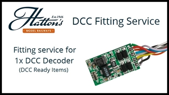 SrvDCCFitStandard01 Fit one 6, 8, 18 or 21 pin decoder into a single DCC Ready item