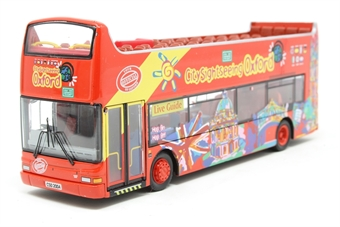 """UK0004-PO01 Open top Dennis Trident/Plaxton President d/deck bus """"Oxford city sight seeing tour"""" - Pre-owned - Missing wing mirrors, imperfect box  £15"""