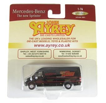 "UKVAN0001 Mercedes Sprinter Van ""John Ayrey"""