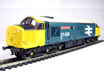 "V2005 Class 37/4 37428 ""David Lloyd George"" in British Rail livery with large logo"