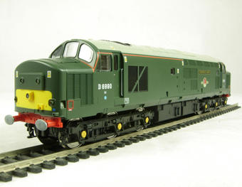 "V2016 Class 37/4 37411/D6990 ""Caerphilly Castle"" in British Railways heritage green livery"
