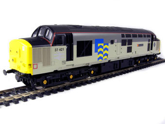 """V2022 Class 37/4 37421 """"Strombidae"""" in Railfreight Petroleum sub-sector livery"""