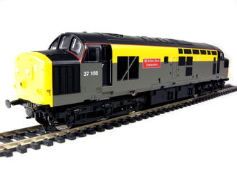 """V2026 Class 37/0 37156 """"British Steel Hunterston"""" in Civil Engineers yellow and grey livery"""