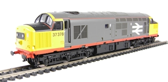 V2027 Class 37/0 37378 in Railfreight Red Stripe with black headcodes