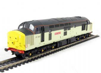 V2029 Class 37/4 37402 'Bont Y Bermo' in debranded Transrail livery with EWS logo