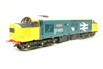 V2032 Class 37 37403 'Isle of Mull' in BR large logo blue - limited edition for Geoffrey Allison