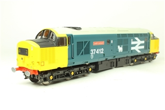V2034 Class 37 37412 'Loch Lomond' in BR large logo blue - limited edition for Geoffrey Allison