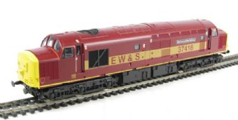 """V2036 Class 37/4 37418 """"East Lancs Railway"""" in EW&S livery"""