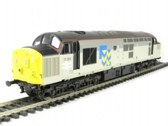 V2038 Class 37/0 37201 in triple grey Trainload Metals
