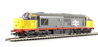 V2090 Class 37/5 37669 in Railfreight Red Stripe livery