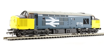 V2111 Class 37/0 37174 in BR blue with large logo