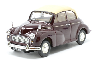 VA07105 Morris Minor Convertible - Maroon 'B'
