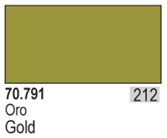 VAL791 Model Color - Gold (Metals 35ml)