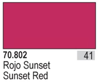 VAL802 Model Color - Sunset Red