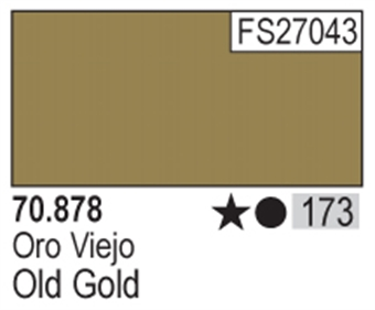 VAL878 Model Color - Metallic Old Gold