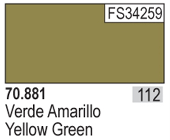 VAL881 Model Color - Yellow Green