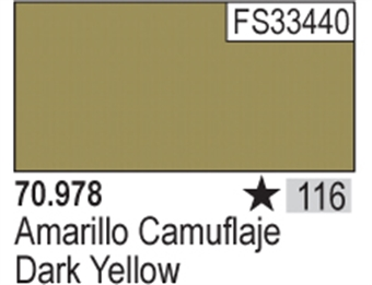 VAL978 Model Color - Dark Yellow