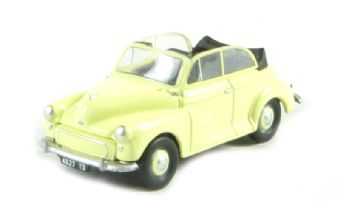 "EM76835 Morris Minor Convertible in ""Primrose Yellow"" with the hood down"