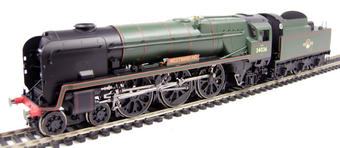 """R2609 Rebuilt West Country Class 4-6-2 34036 """"Westward Ho"""" in BR Green with late crest"""